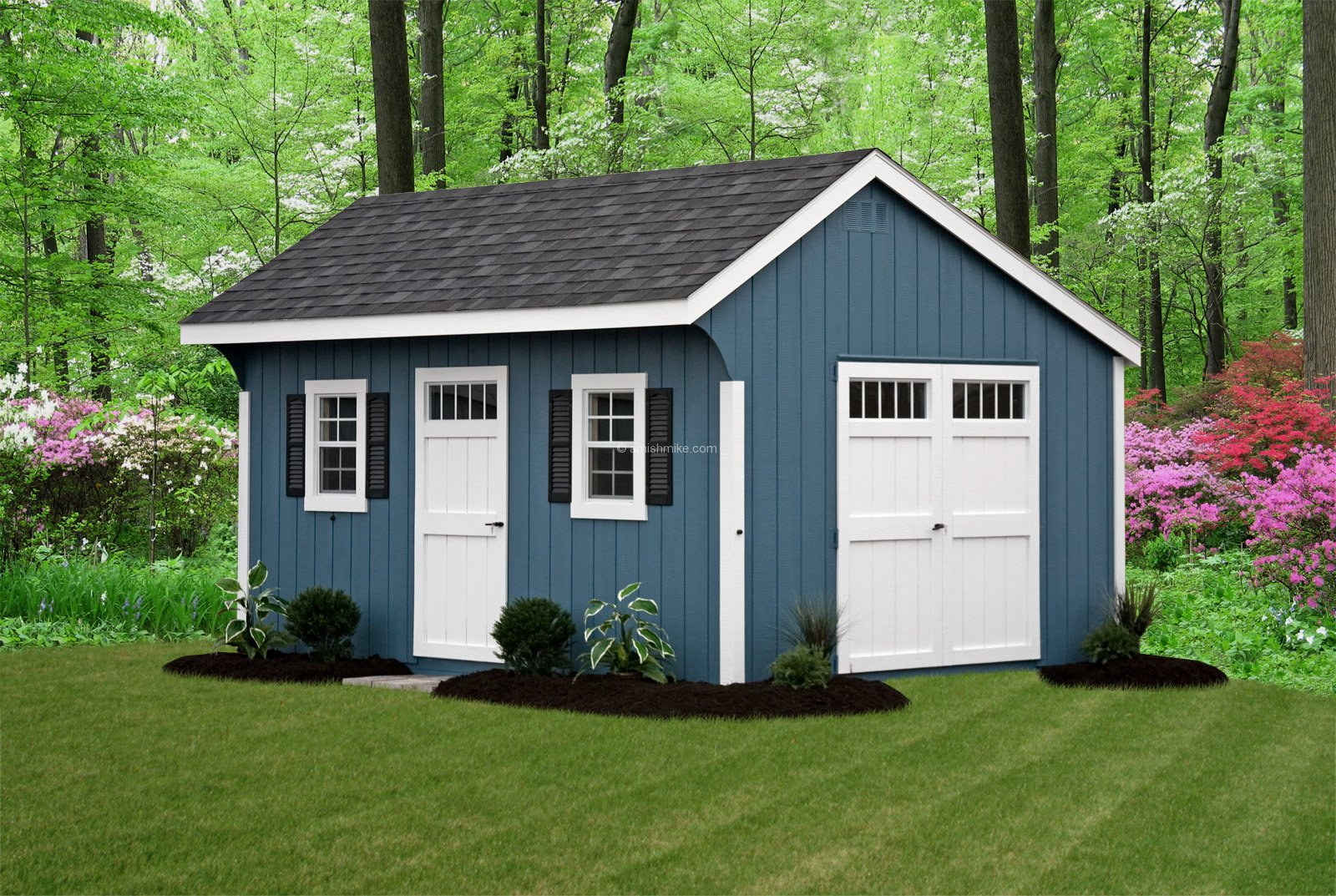 Sheds built on site dutch shed 8u0027 x 12 new for Quaker barn home designs