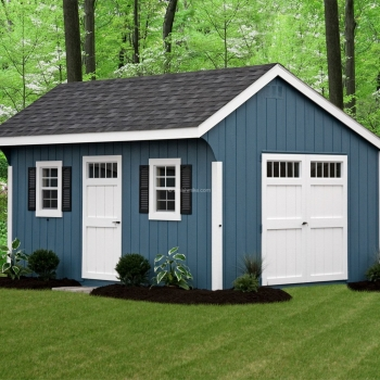 12' x 16' Deluxe Quaker Blue Shed