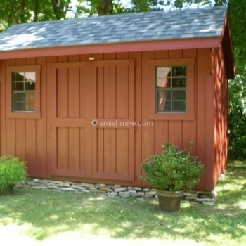 8' x 12' Wood Elite Quaker Shed