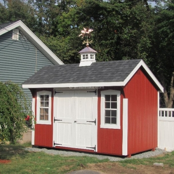 8' x 12' Elite Quaker Shed Red