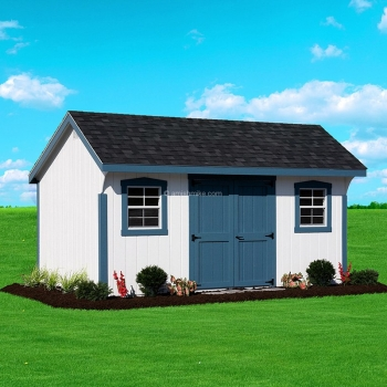 10' x 16' Elite Quaker Shed White