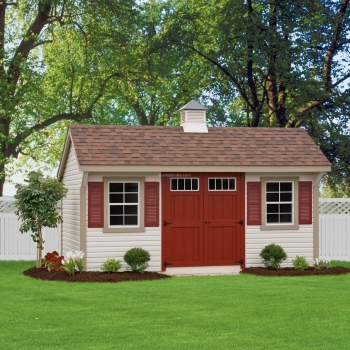 10' x 16' Vinyl Elite Quaker Shed