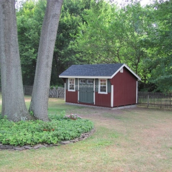 10' x 14' Elite Quaker Shed Red