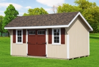 10' x 16' Elite Quaker Shed Tan