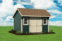 10' x 12' New England Elite Quaker Shed Green