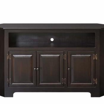 IE-104-W 3 Door Plasma Cabinet with Wood 61wx16dx33h