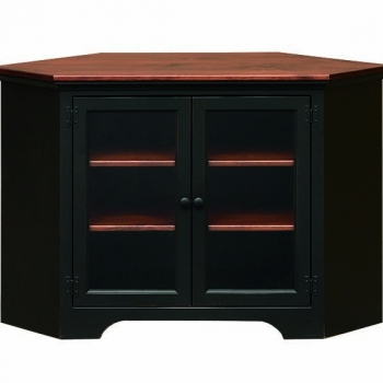 J-99 Small Corner Entertainment Center with Glass 50 1/2x33