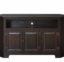 IE-104-W 3 Door Plasma Cabinet with Wood 61wx16dx33h