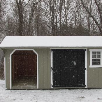 8 x 16 fire wood shed