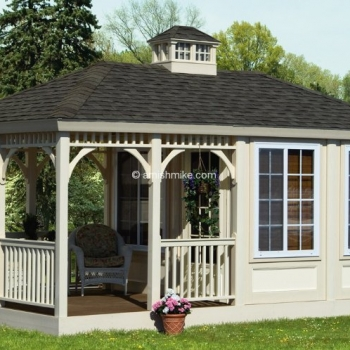 All Season Gazebo with Porch