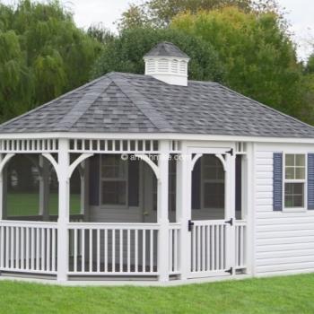 Oval Pool House