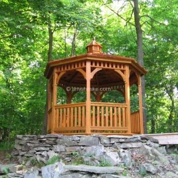 10' Cedar Shakes Wood Octagon Gazebo