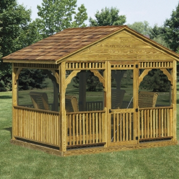 Deluxe Garden Glider with Screens 8x9 $3045 8x12 $3910
