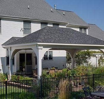 14'x22' Grand Estate White Vinyl Pavilion