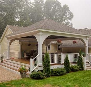 22'x24' Grand Estate White Vinyl Pavilion