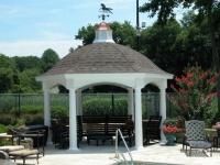 14' Hexagon Hampton Pavilion
