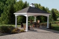 12' x 16' Hampton Vinyl Rectangle Cupola Pavilion