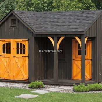 12' x 16' with 7'  Bnb Workshop Porch Nook