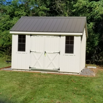 10x12 Cape Cod with Board-n-Batton With Paint Option and Metal Roof