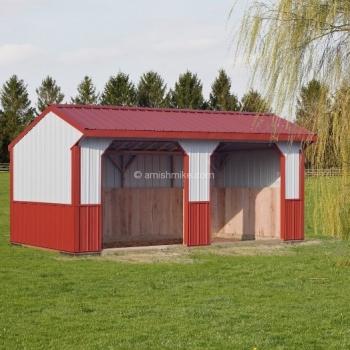 10' x 20' Metal Horse Barn