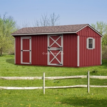 10' x 16' Horse Barn Red