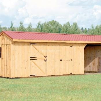 Horse Barn Run-in Combo