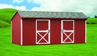 12' x 20' Horse Barn Red