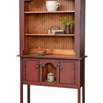 HB-1-B Colonial Huntboard Hutch 43wx80hx13d