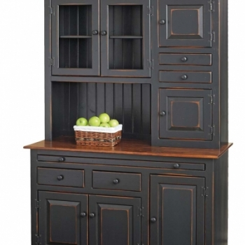 K-1209-Hoosier Cabinet w Apples 51wx22dx76h