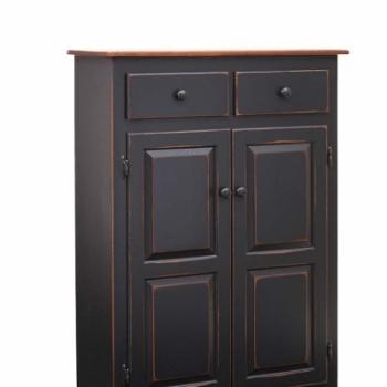 K-1324-Lancaster Cabinet Black 33wx13dx47h