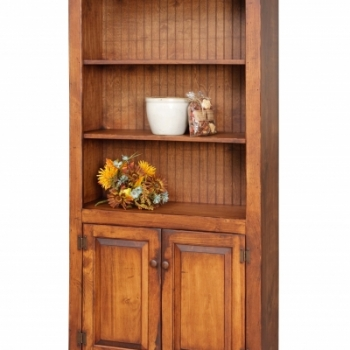 HB-21 6' Bookcase with Bottom Doors 36wx72hx14d