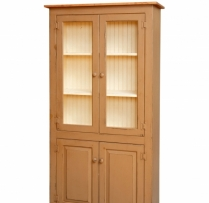 HB-3-B-G 4 Door Pantry with Glass 36wx72hx14d