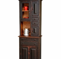 HB-4-D Small Hoosier Hutch 25wx74hx13d