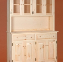 DR-410 Large Primitive Lancaster Hutch 52wx16dx73h