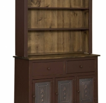 IE-307-T-O Three Door Hutch with Tin 48wx16dx73h