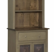 IE-308-W-O Two Door Hutch with Tin (also available with wood doors) 32wx16dx73h