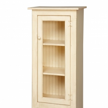 VIN-3-A-G Small Jelly Cupboard with Glass 22wx47hx14d