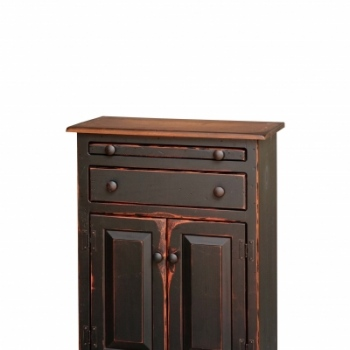 VIN-4-E Small Microwave Cabinet 25wx34hx13d