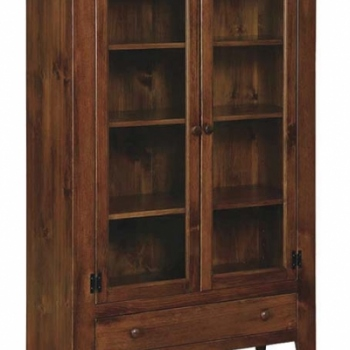 J-114 Double Jelly Cupboard with Glass 42wx17dx60 1/2h