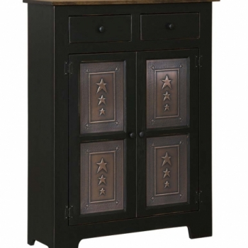 IE-112T Double Pie Safe with Tin 37 1/2wx13dx48h$490