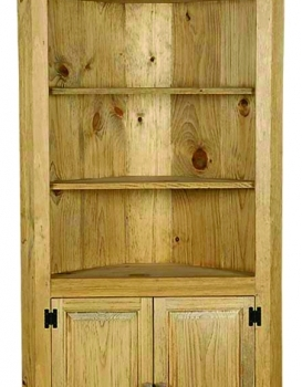 J16LargeCornerCupboardLightWalnut$660