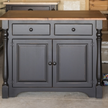 "J83A 4'Kitchen Island/34""Ext.Top/TurnedLegs(1) $1012.00"