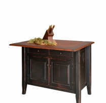 HB-4-C-3-B Country Kitchen Island 3x4 Top with back Overhang