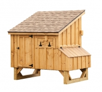 4' x 5' Lean To BB Brown Cedar Chicken Coop