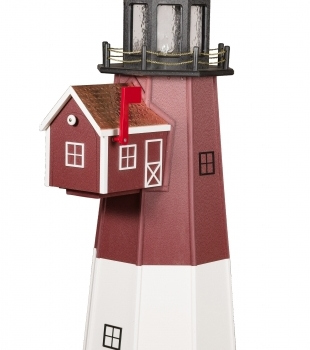 BD- 6' Poly Barnegat Lighthouse w/ Mailbox