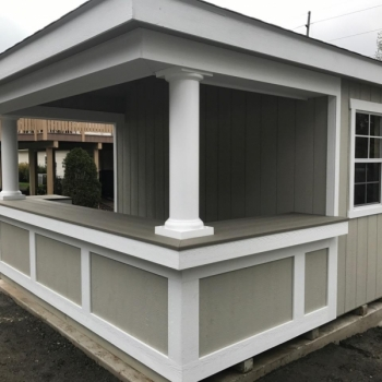 10x12 Siesta with t-1-11 and royal trim bar front