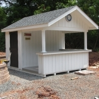 10 x 12 Siesta with t-1-11 siding with 2' overhang