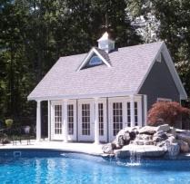 Custom 12-x-20 Poolhouse