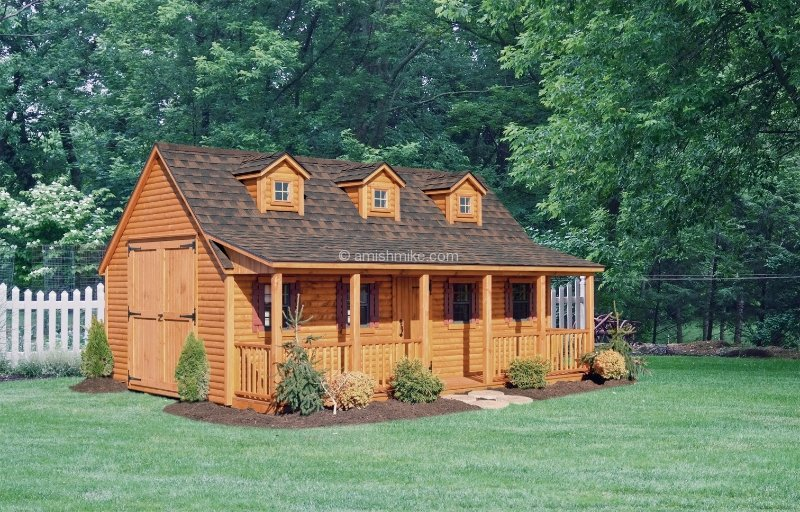 Log Cabin Heritage Sheds Amish Mike Amish Sheds Amish