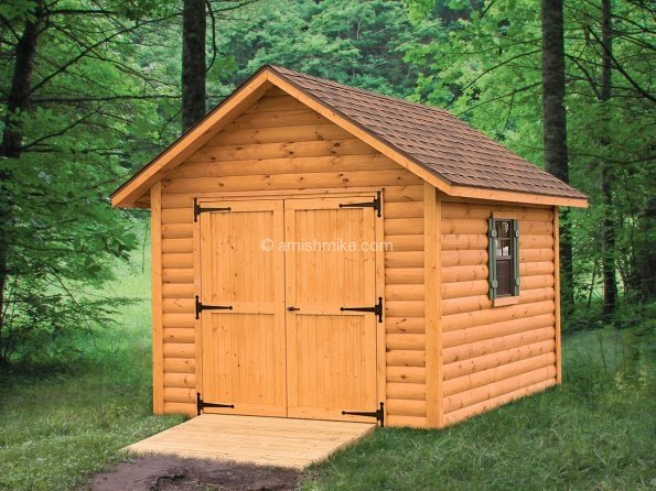 Storage Shed Cabins : Log cabin heritage sheds amish mike